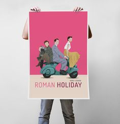 Roman Holiday Movie - Audrey Hepburn Art Print Poster - Multiple Sizes