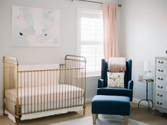 A sweet pastel nursery. I settled on grey, navy pinks, whites, sage, and lavender. I knew I wanted the room to feel feminine, colorful, and light.