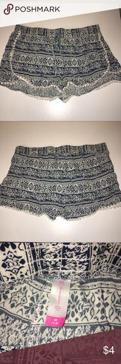 Aztec Print Shorts No Boundaries blue shorts... good condition just want to clean my closet No Boundaries Shorts