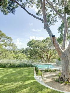 Castlecrag by Polly Harbison Design Australian Architecture, Australian Homes, Interior Architecture, Indoor Outdoor Living, Garden Pool, Open Plan, Natural Materials, The Great Outdoors, Countryside
