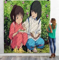 Disney Movies Spirited Away (2001) v 3D Customized Personalized Quilt Blanket