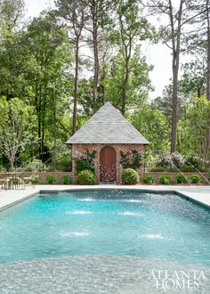 Charmant Water Elements Were A Crucial Component For The Outdoor Space, So Fountains  Were Added To · Pool BackyardPool LandscapingGARDEN ...