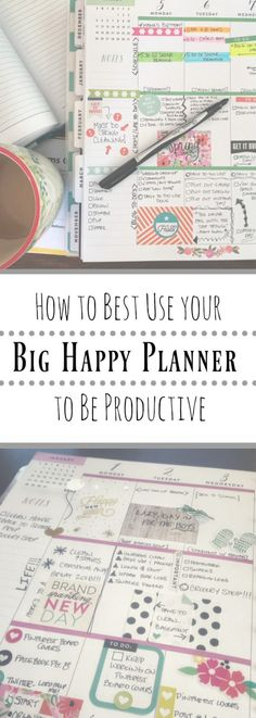 Setting up your Planner & Do you need better planner organization? Have a planner but don& really use it? Wish you did so life wasn& so crazy? Here is one idea of how to organize your days using the Big Happy Planner. Create 365 Happy Planner, To Do Planner, Planner Tips, Planner Layout, Planner Pages, Life Planner, Organized Planner, 2015 Planner, College Planner Organization