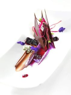 The art of plating - one of many talents acquired in culinary school. Find programs near you today! Fancy Desserts, Gourmet Desserts, Plated Desserts, Gourmet Recipes, Food Styling, Molecular Gastronomy, Culinary Arts, Creative Food, Food Presentation