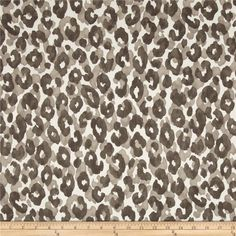P Kaufmann Snow Leopard Slate from @fabricdotcom  Screen printed on cotton duck; this versatile medium weight fabric is perfect for window treatments (draperies, valances, curtains and swags), accent pillows, duvet covers and upholstery. Colors include shades of grey on ivory.