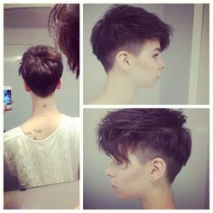standpoor:  psychaeda:  n0-face:  Been asked for back and sides view. Tada  oooh doin this next!  this girl looks like a girl that goes to Sassoon at the same time i do a lot. but i don't think that's her. but they have the same cut. okay