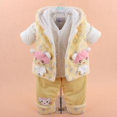 2015 new baby clothing set winter sets suit infant winter clothes outfits cotton 3 pieces suit vest cat lace-in Clothing Sets from Mother & Kids on Aliexpress.com | Alibaba Group