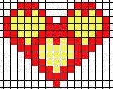 Herz - hama beads