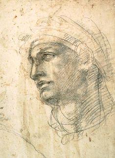 Michelangelo Buonarroti-Volto maschile