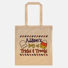 Trick or Treat Bag Personalized  Halloween Bag by AlluringPrints