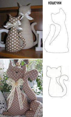 15 modelos de gato de Feltro: Moldes Disponíveis - :: Casa & Artesanato ::