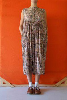 Daniela Gregis washed button sleeveless dress