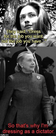 "Suited up | They said, ""Dress for the job you want, not the job you have..."" So that's why I'm dressing as a dictator. 