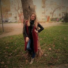 Items similar to Burgundy Colour Handmade Long Vest Wool with Motif on Etsy Burgundy Vest, Burgundy Color, Long Vests, Light Spring, Fall Jackets, Keep Warm, Winter Coat, Cozy Corner, Wool