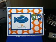 Boy birthday card. ©Stampin'Up!™ www.preciousdesigns.stampinup.net