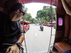 Just getting a ride in another Tuk-Tuk.