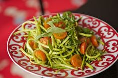 Meatless Monday: Zucchini Pasta with Creamy Basil Sauce, Wholeliving.com