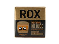 """ROX STAINLESS   """"The Eternal Ice Cube"""" Ultra Premium Beverage Chilling Cubes for Spirits, Beer, Wine, Coffee & more! (Eight Large 1"""" Stainless Steel Chillers)"""