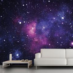 Galaxy wall mural, 13'x9'. $54 accent wall