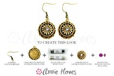 Create this style with Annie Howes. Gorgeous antique gold jewelry project!