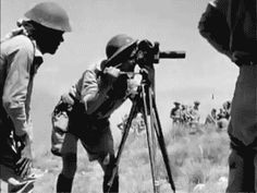 Rare movie footage of an AFPU team filming in Italy 1943