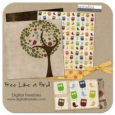 Free Like a Bird - Digital Scrapbooking Freebie