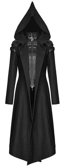 black coat with big *pixie* hood <3