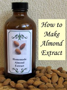Homemade Almond Extract {+ Vanilla & Lemon} #DIY #howto #homemade
