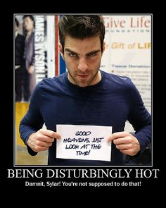 Sylar, don't care if he's gay, he's so hot! love me some ZQ