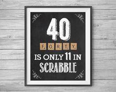 40th Birthday Printable Party Decor Supplies 4 Unique por NviteCP