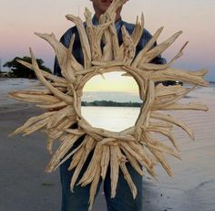 Driftwood Mirror...love this design!