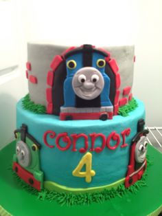 Thomas and Friends- buttercream with fondant Lots of fun to do!