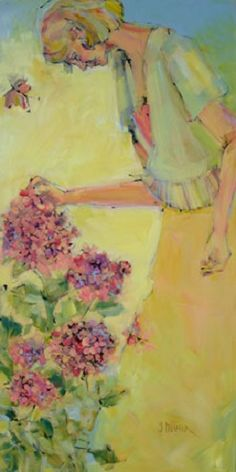 My Favourite Flowers - Self Portrait by Genevieve Pfeiffer Whimsical, Paintings, Watercolor, My Favorite Things, Portrait, Drawings, Artwork, Flowers, Artists