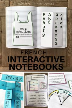French Foldables and Flippables are a great addition to your students' French Interactive Notebooks! Click to see more fun and engaging ways to teach french grammar and verbs.