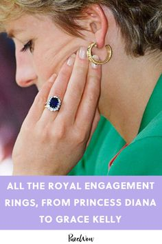 Jul 2019 - Regal sapphires, royal rubies and the queen's diamonds, oh my! From Queen Elizabeth's gorgeous three-carat solitaire to Grace Kelly's massive rock, there are plenty of royal engagement rings worth drooling over. But beautiful bling. Kate Middleton Jeans, Vestido Kate Middleton, Kate Middleton Engagement Ring, Kate Middleton Earrings, Princess Diana Engagement Ring, Princess Diana Jewelry, Looks Kate Middleton, Royal Engagement Rings, Evening Gowns