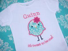 Girls Birthday Shirt  Girls Bird Birthday by sweettulipsboutique, $21.00