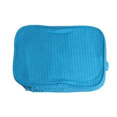 """Waffle Cosmetic Toiletry Bag Product Details:  Material: 60% Cotton/40% Polyester Waffle Weave Fabric Size: 9.25"""" Wide, 3.25"""" Deep, 6.5"""" Tall Two separate zippered compartments Water repellent lining Available Colors: Black, White, Fuchsia, Pink, Lavender, Aqua, Navy"""
