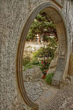 Majestic Fabulous 25 Amazing Stone Moongates Garden Design Ideas https://decoredo.com/19744-fabulous-25-amazing-stone-moongates-garden-design-ideas/