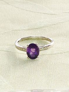 Amethyst Ring or Engagement Ring Handmade by NorthCoastCottage