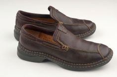 BORNS Loafers Slip ons Comfort Shoe Womens Size 6.5 Brown Leather Casual  Loafers #Clarks #