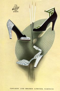 A lovely UK shoe ad from 1948. #vintage #shoes #1940s