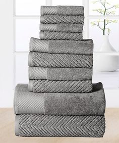Another great find on #zulily! Platinum Elegance Egyptian Cotton Towel Set #zulilyfinds
