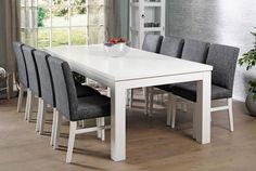 MODULI-pöytä 220 x 100 cm ja 8 kpl verhoiltu LUNA-tuoli - Moduli-ruokapöydät nyt -20%   Sotka.fi