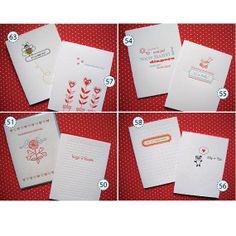 Letterpress  Pick Any Six Cards by LuckyBeePress on Etsy, $18.00