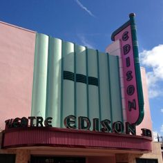 Edison Theatre ghost sign, downtown Fort Myers, Florida