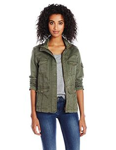Kensie Jeans Women's Fitted Utility Jacket in Dark Moss - http://www.darrenblogs.com/2016/10/kensie-jeans-womens-fitted-utility-jacket-in-dark-moss/