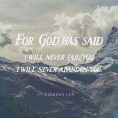 Heb. 13:5