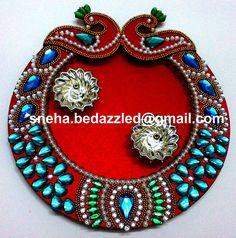 by Sneha Thali Decoration Ideas, Diwali Decorations, Festival Decorations, Wedding Gift Wrapping, Wedding Gifts, Wedding Centerpieces, Wedding Decorations, Acrylic Rangoli, Diy And Crafts