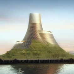 Now that's the way to build a power station!  Turn it into a man-made volcano that becomes beautiful and a tourist attraction! Large | Heatherwick Studio