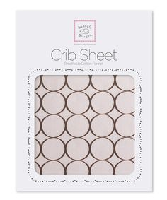 Look what I found on #zulily! Pastel Pink & Brown Modern Circle Fitted Crib Sheet #zulilyfinds